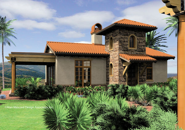 Image of: Tuscan Style House Plans