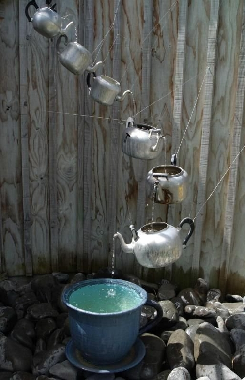 Image of: Unique Homemade Water Fountain