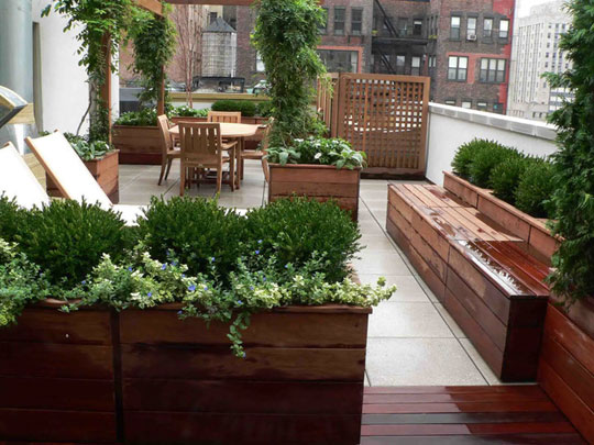Image of: Urban Terrace Garden Design