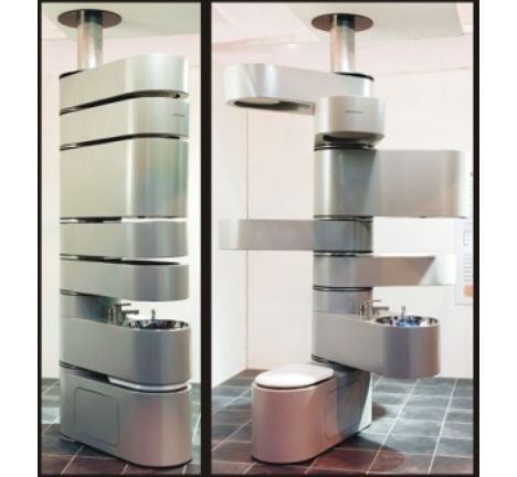 Image of: Vertical Bathroom System