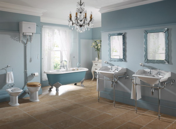 Image of: Victorian Bathroom Furniture