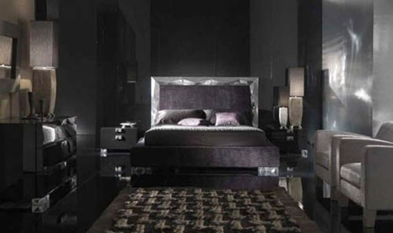 Victorian Dark Gothic Bedroom Interior