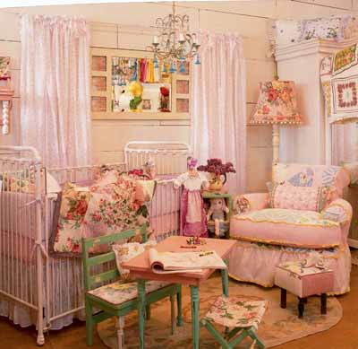 Image of: Vintage Baby Girl Nursery