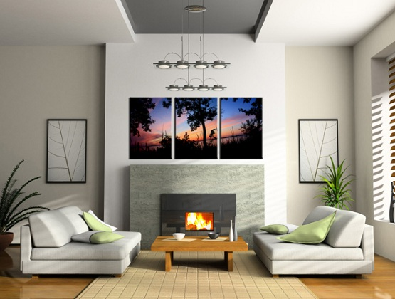 Image of: Enchanting Wall Art Ideas for Living Room