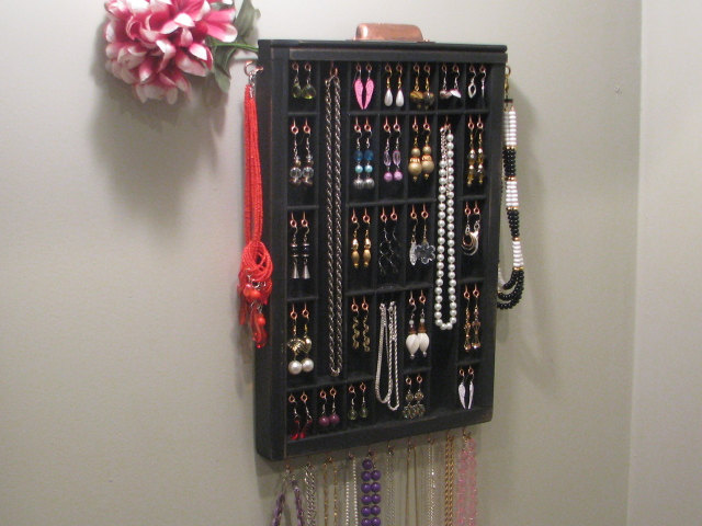 Image of: Wall Drawer Jewelry Organizer