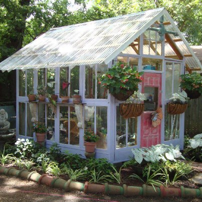Image of: White Greenhouse Idea