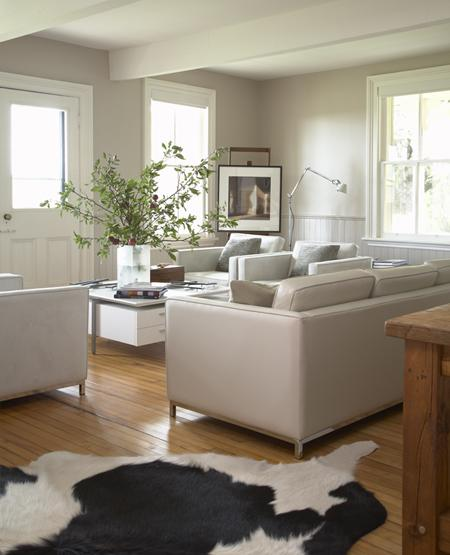 White Modern Rustic Living Room