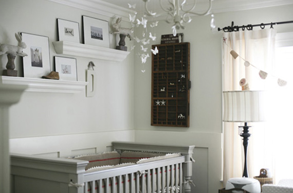 White Vintage Neutral Nursery Room