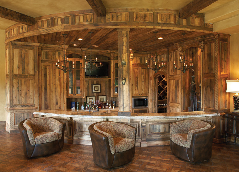 Image of: Wooden Bar at Home