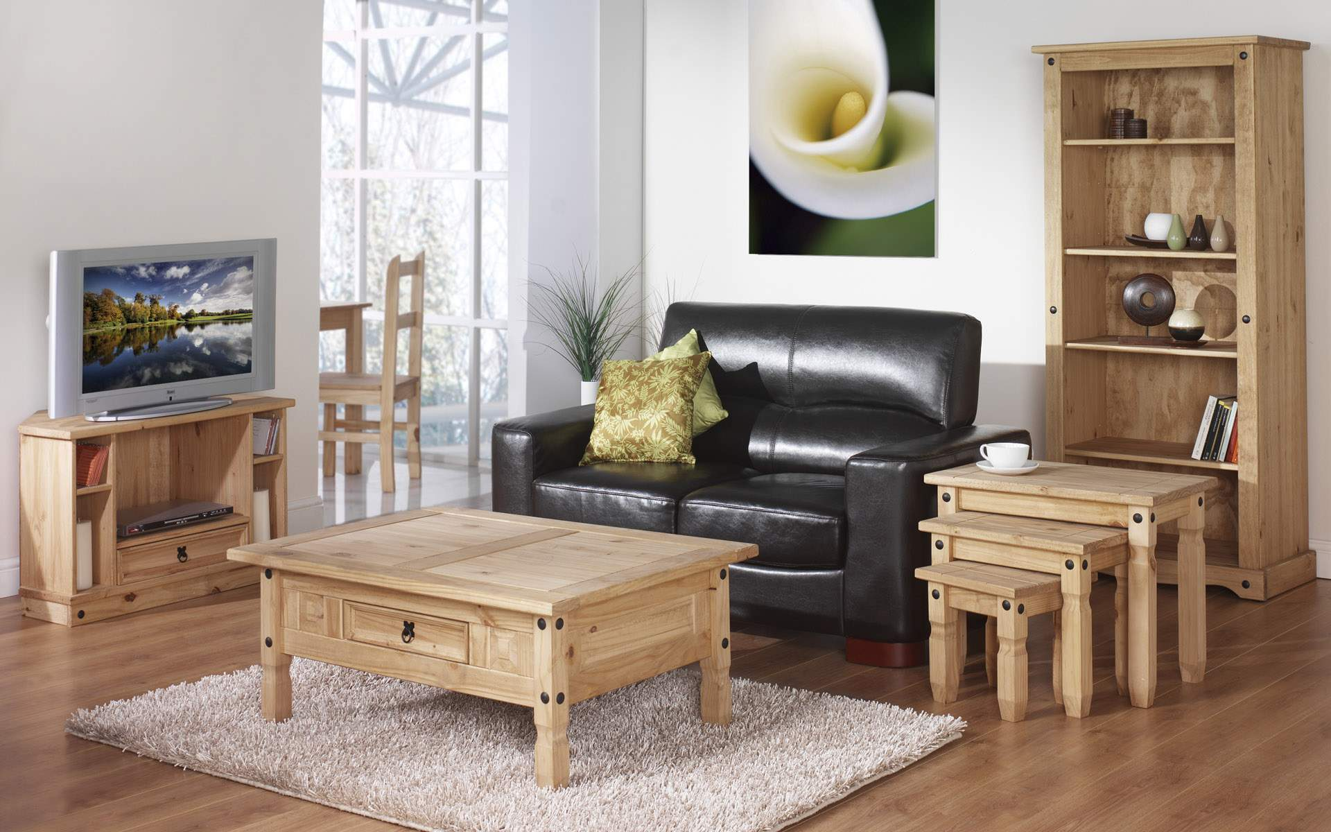 Image of: Wooden Living Room Furniture