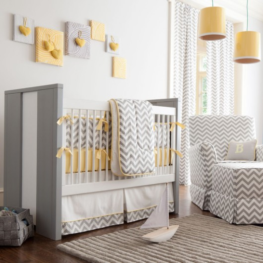 Yellow and Gray Neutral Baby Room
