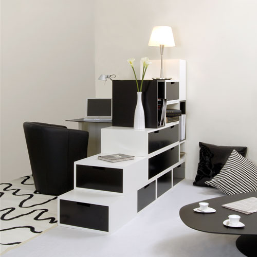 Image of: Practical Furniture for Black and White Interior Design