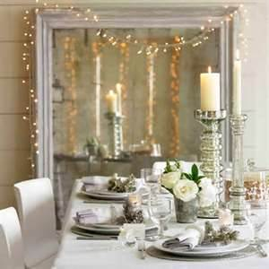 Image of: Christmas Design for White Dining Table
