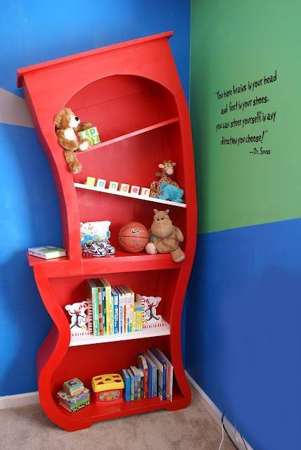 Image of: Unique Bookshelf For Baby Room