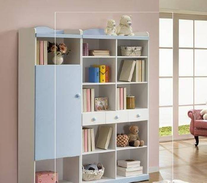 Image of: White Baby Bookshelf