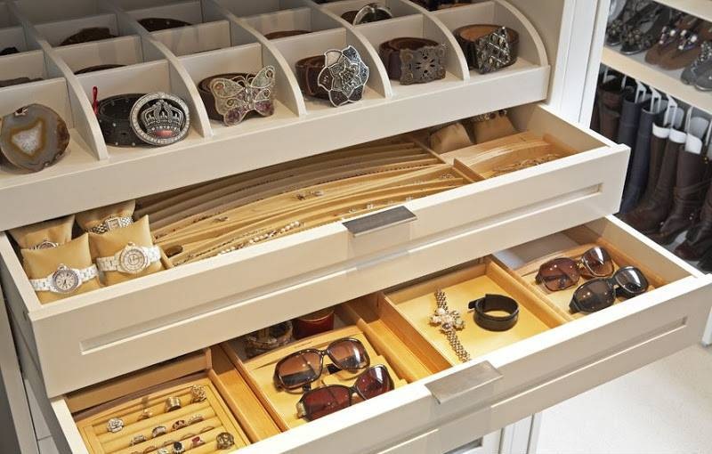 White Jewelry Drawer Organizer