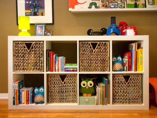 Image of: White Nursery Bookcase