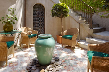 Image of: Decor of Mediterranean Patio