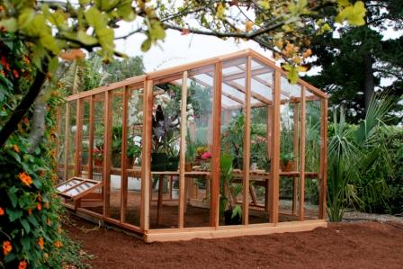 A Nice Wooden Greenhouse