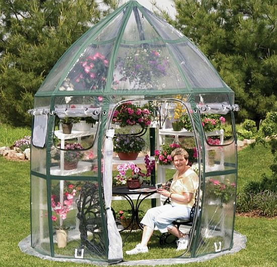 A Unique Round Greenhouse