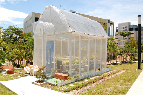 An Elegant White Greenhouse