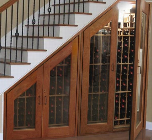 Image of: Cupboard for Wine under Stairs