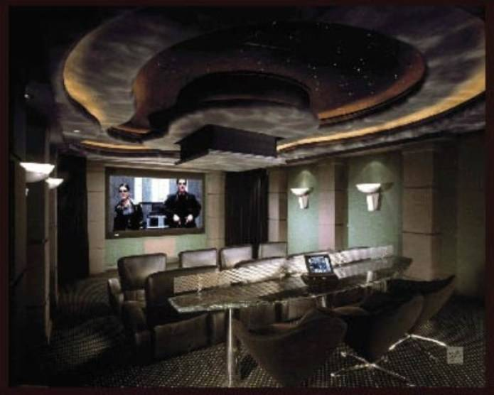 Image of: Home Movie Theater with Matrix Design