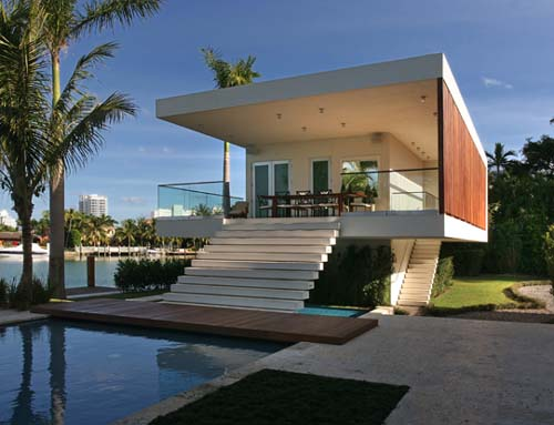 Image of: Miami Beach House Design by Touzet Studio