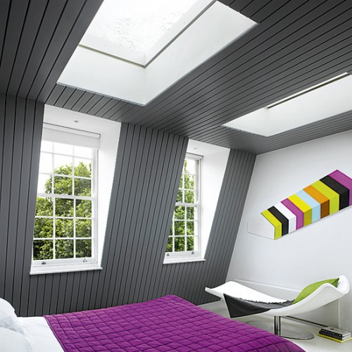 Modern Attic Bedroom Furnishing