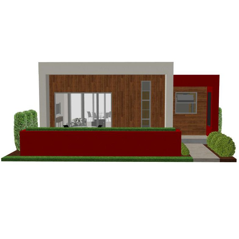 Image of: Small Modern House Plan
