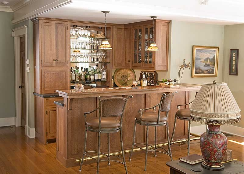 Image of: Home Bar Decorating Idea