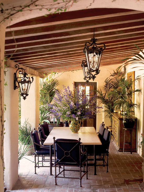 Patio with Mediterranean Design