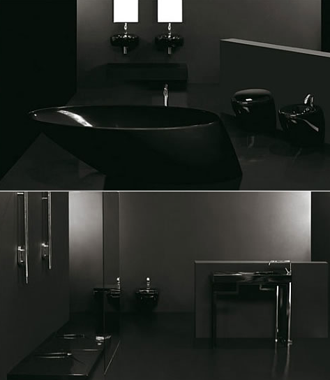 Image of: Black Bathroom