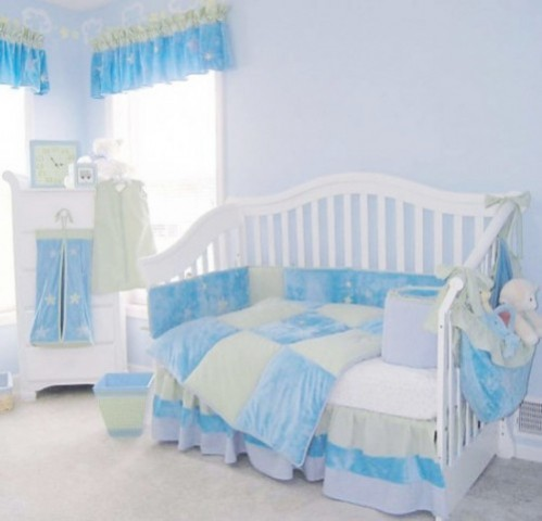 Blue Baby Nursery Theme for Firls