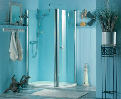 Image of: Bright Blue for Bathroom