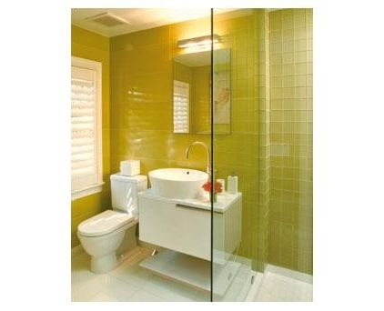 Image of: Bright Yellow for Bathroom