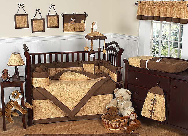 Image of: Brown Baby Bedding