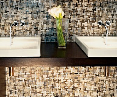 Image of: Brown Glass Mosaic Tile