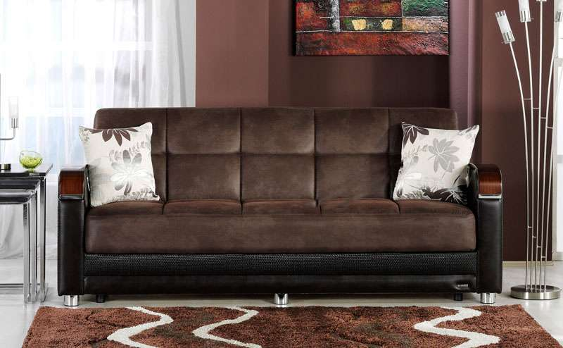 Image of: Brown Leather Sofa in Living Room