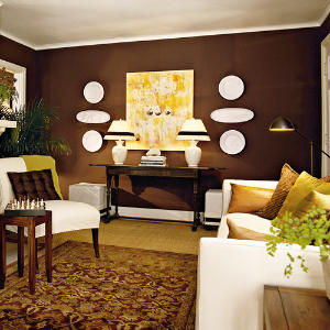 Image of: Chocolate Brown Sitting Room