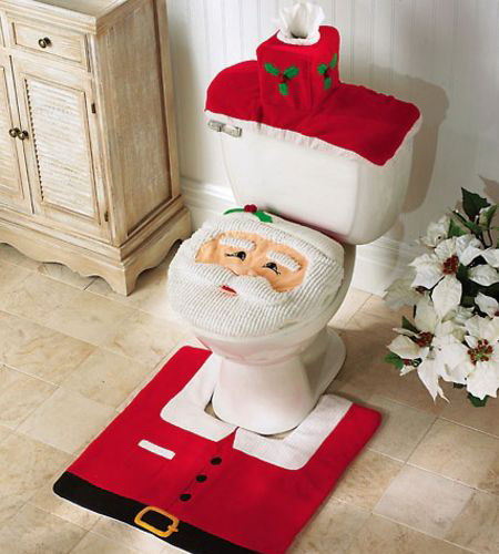 Christmas Decorating Idea for Bathroom