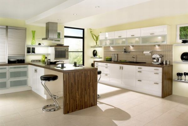 Image of: Contemporary Wooden Kitchen Design