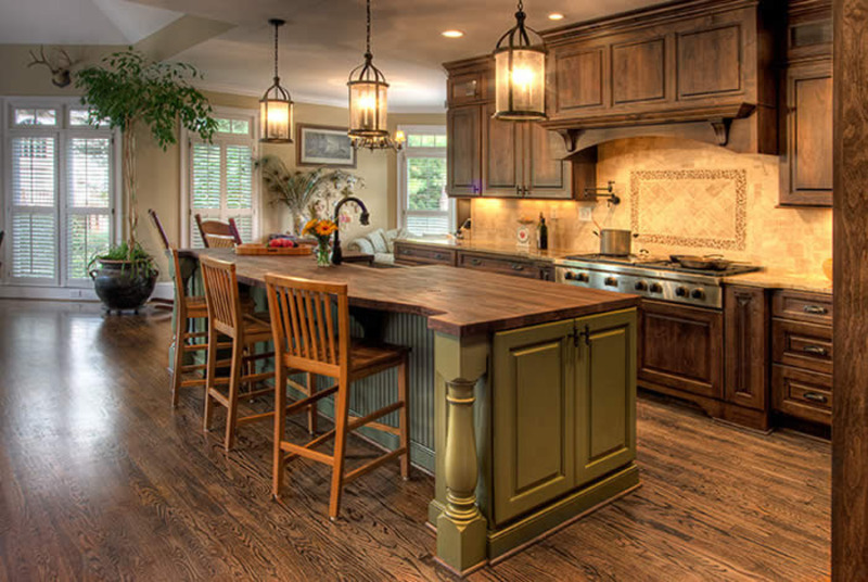 Image of: Country Kitchen Home Interior