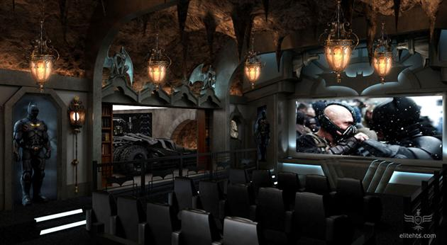 Image of: DARK KNIGHT THEMED HOME THEATER
