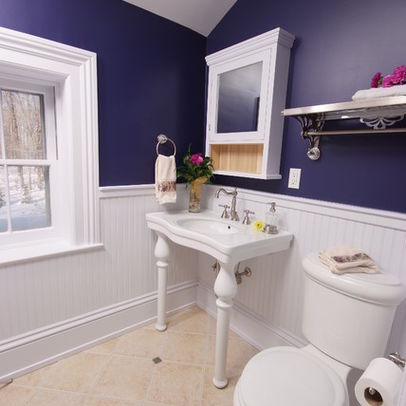 Image of: Deep Shades for Bathroom