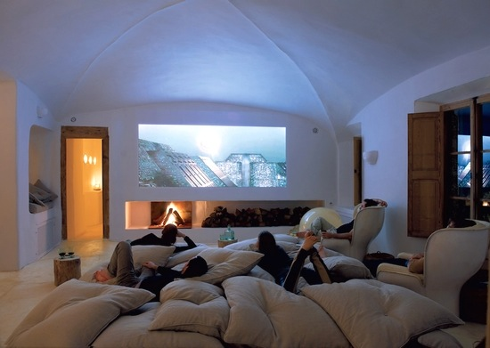 Image of: FLOOR PILLOW MEDIA ROOM