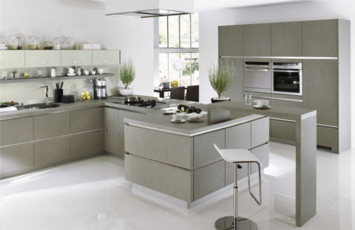 Image of: Fabolous White and Grey Kitchen