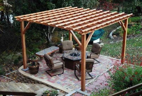 Freestanding Pergola Idea