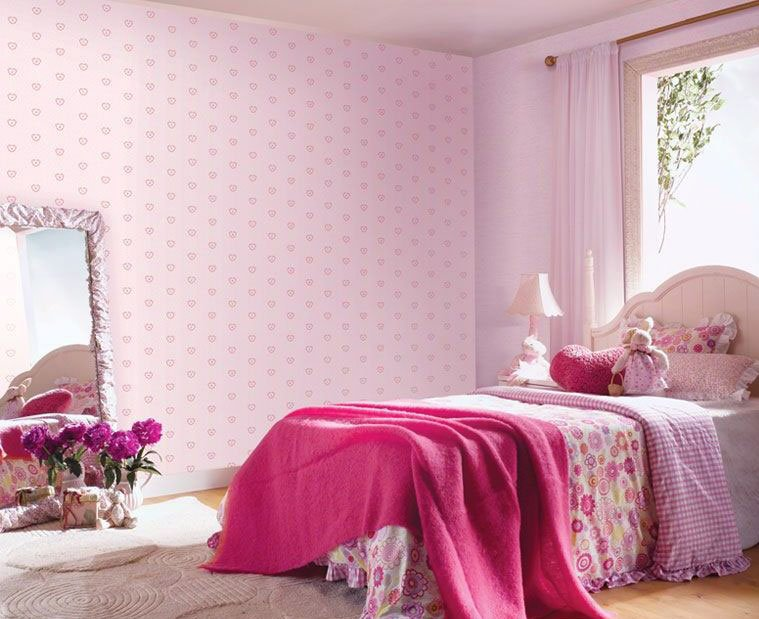 Image of: Full Pinky Accent for Girls' Bedroom