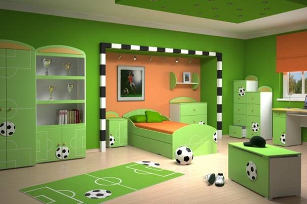 Furniture with Ball Design Kids Room Ideas